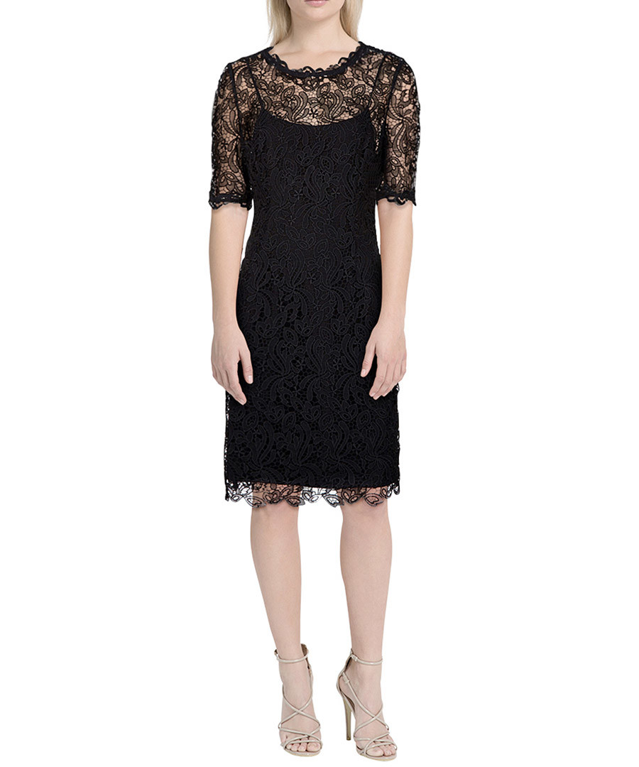 Sasha black & silver-tone lace dress Sale - L.K. Bennett
