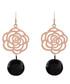 Rose gold-plated & black rose earrings Sale - liv oliver Sale