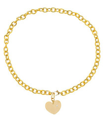 18ct gold-plated heart charm necklace