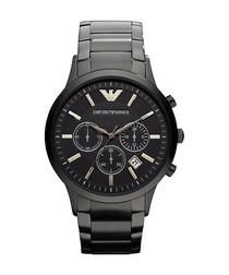 Black ion-plated steel watch