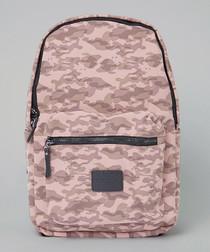 Disrupt pink camouflage print backpack
