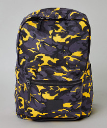 Dazzle yellow camouflage print backpack