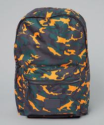 Dazzle orange camouflage backpack