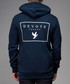 Pacey navy pure cotton zip-up hoodie Sale - devote Sale