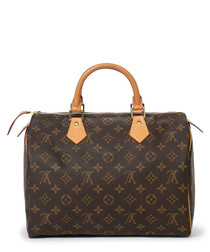 Speedy 30 monogram canvas print bag