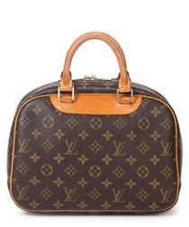 Trouville brown & tan canvas grab bag
