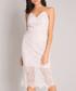 White spaghetti strap lace overlay dress Sale - Chi Chi Sale