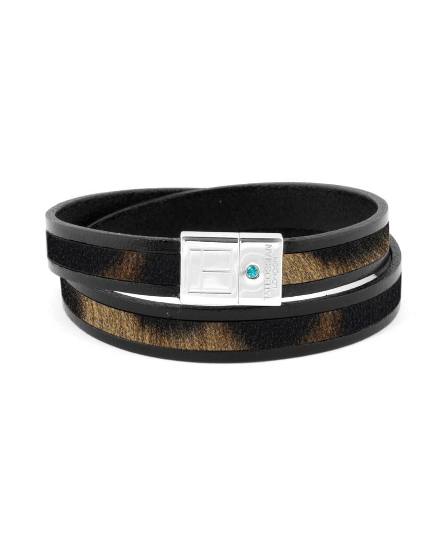Brown leather & silver bracelet Sale - Tateossian London