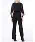 Black ruffle long sleeve jumpsuit Sale - zibi london Sale