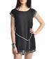 Black & silver-tone trim mini dress Sale - zibi london Sale