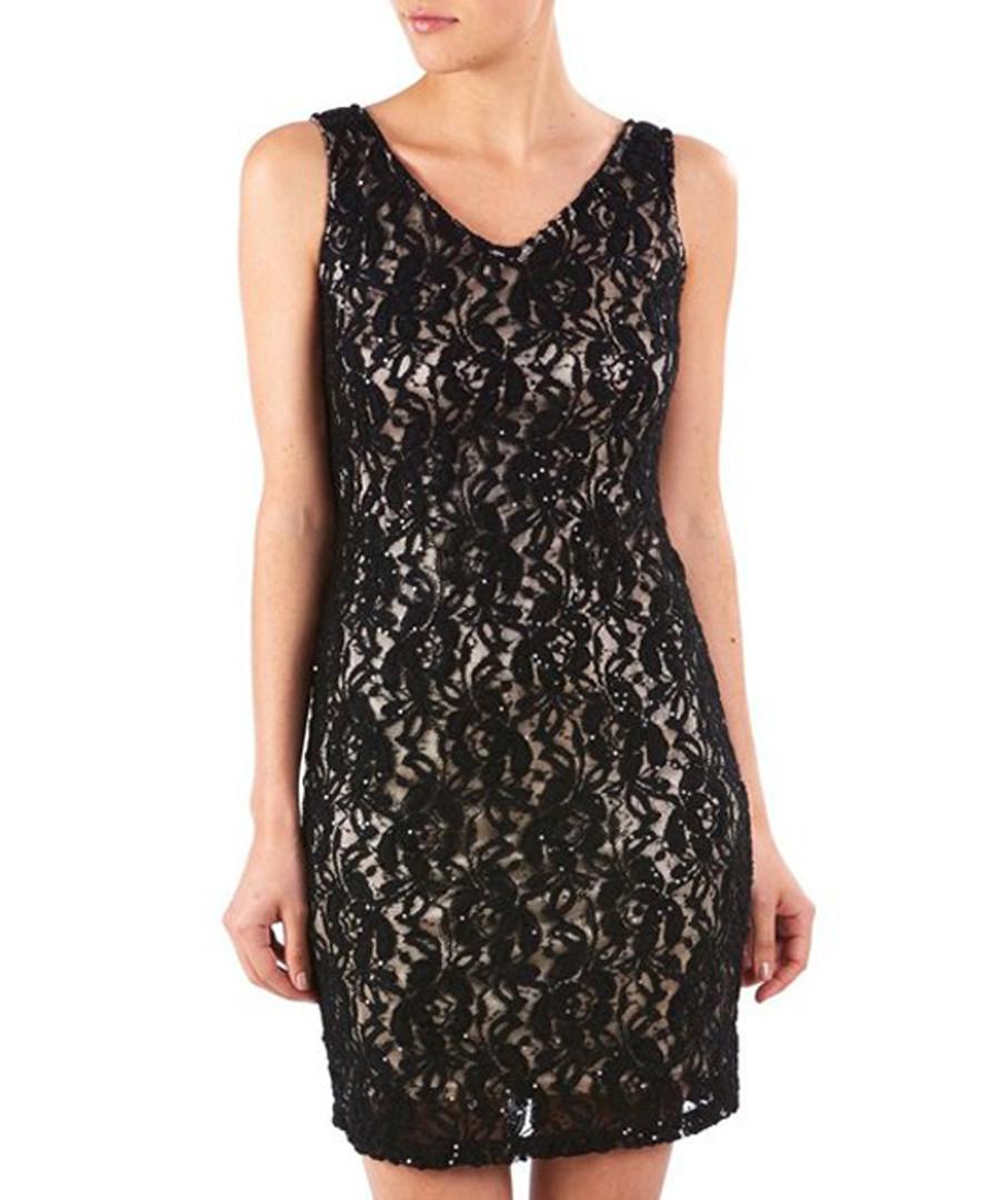Black lace sleeveless mini dress Sale - zibi london