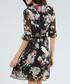 Black floral half sleeve wrap dress Sale - zibi london Sale