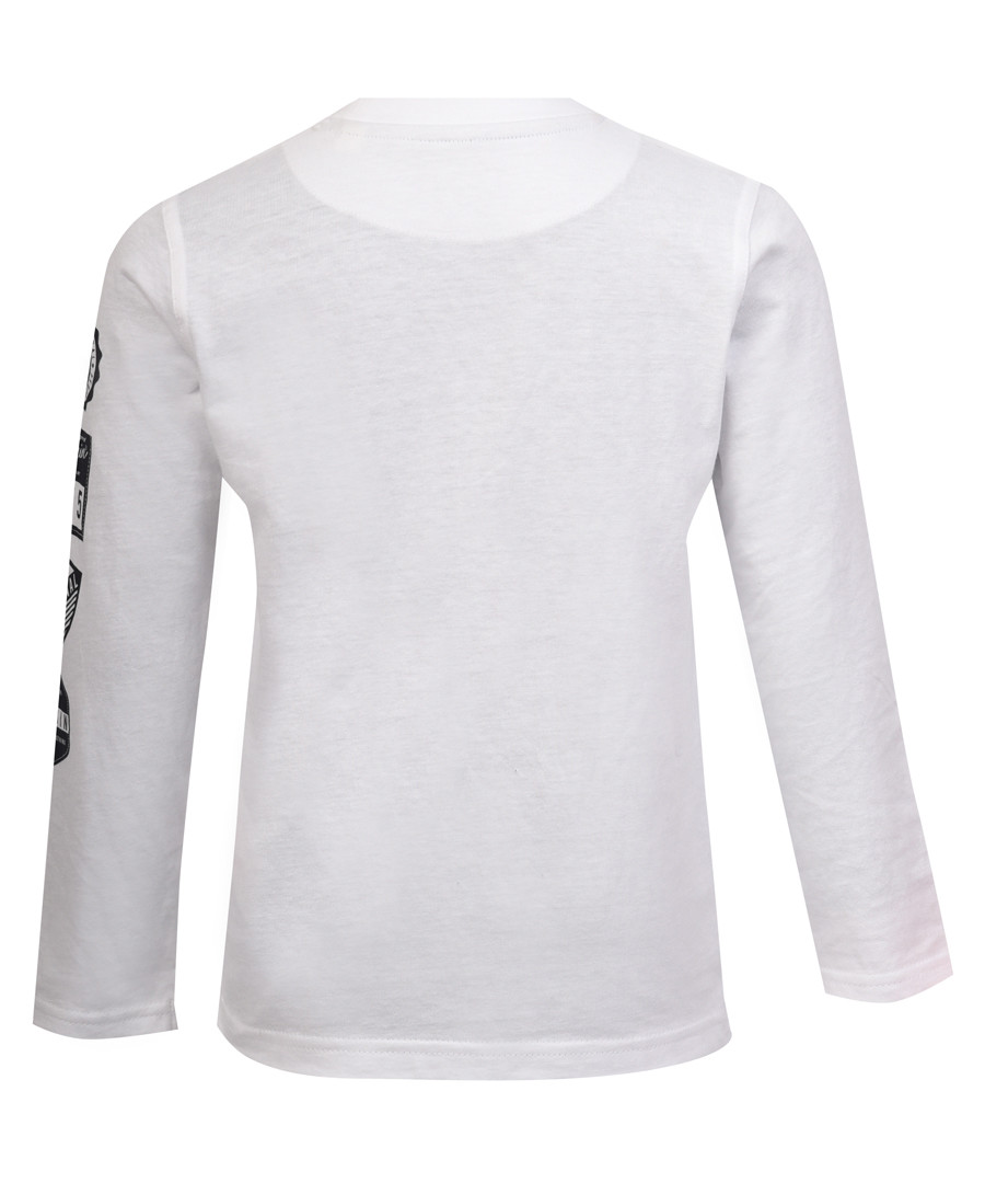 Boy's white cotton long sleeve top Sale - PGN