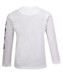Boy's white cotton long sleeve top