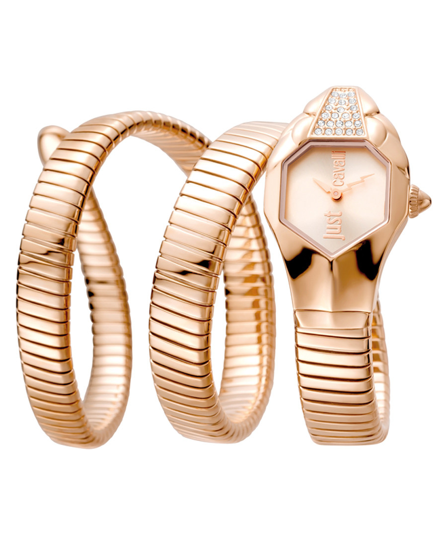 Rose gold-plated serpent watch Sale - JUST CAVALLI