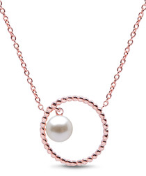 0.6cm pearl & sterling silver necklace
