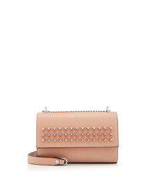 Dazer pink studded cross body bag