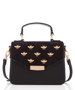 0889a320295b7 Dessie black   gold-tone shoulder bag Sale - Dune Sale