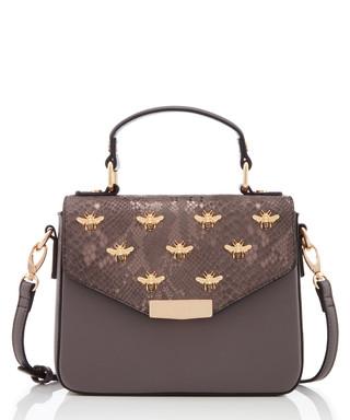 8896e8732e059 Dessie grey   gold-tone shoulder bag Sale - Dune Sale