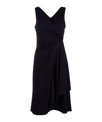 Navy V neck dress