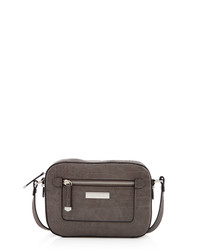 Mia grey moc-croc shoulder bag