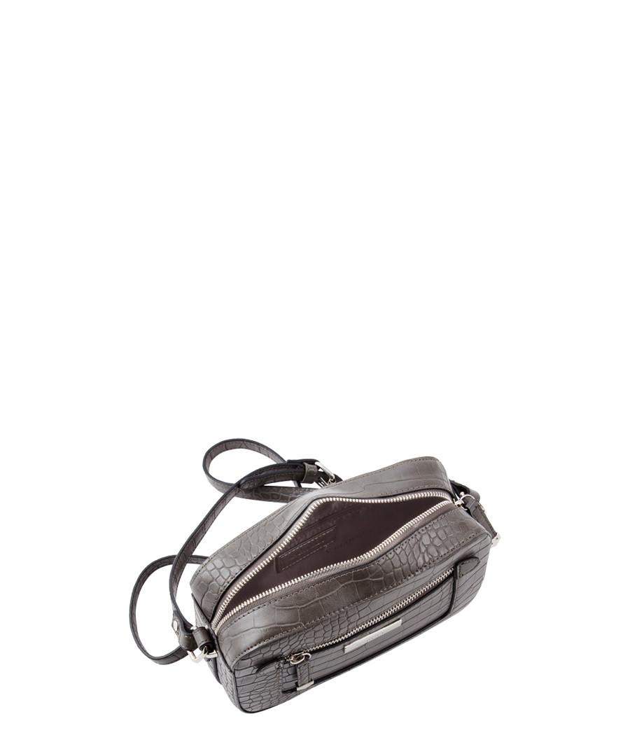 24bbb821664a4e Discount Mia grey moc-croc shoulder bag | SECRETSALES