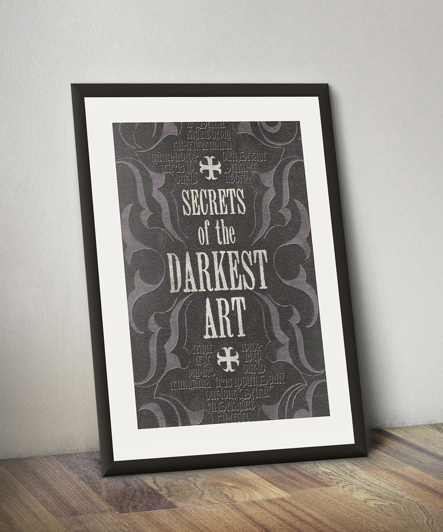 Secrets of the Darkest Art framed print Sale - Harry Potter Art