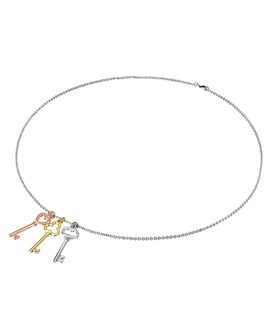 Multi-plated three key necklace Sale - tassioni