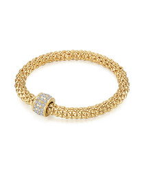 Gold-plated & clear detail bracelet