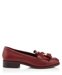 Manor wine leather tassel loafers