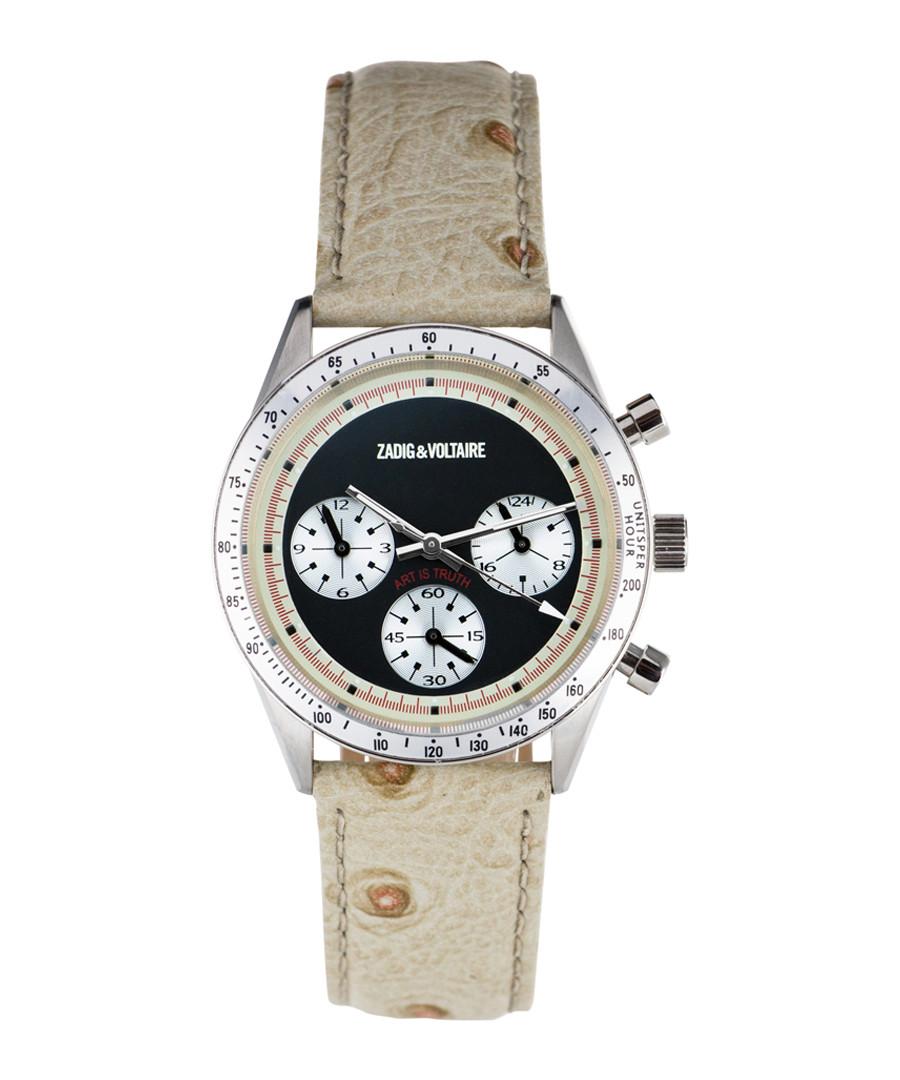 Cream, silver-tone & black quartz watch Sale - ZADIG & VOLTAIRE