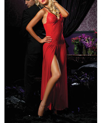 Moonlight Magic red mesh gown