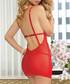2pc Cupid's Bow red chemise set Sale - seven til midnight Sale