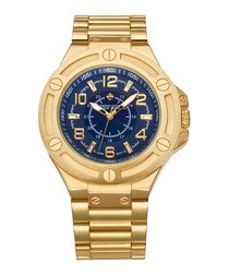 Manis gold-tone & blue watch