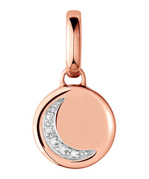 Crescent Moon sterling & crystal charm