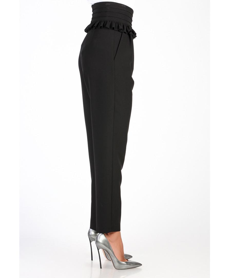 ... Black high waist frill detail trousers Sale - carla by rozarancio ... cb91b74df