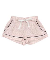 Pink pure cotton pyjama shorts