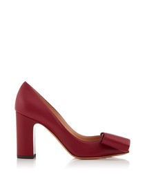 Women's Ruby leather bow detail heels