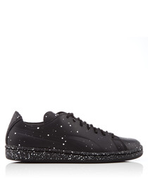 X DP Match black leather sneakers
