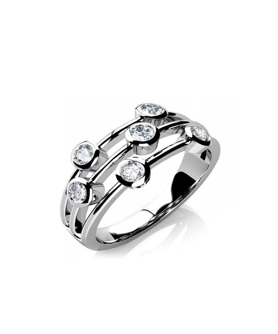 18ct white gold & diamond tier ring Sale - Buy Fine Diamonds