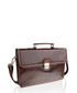 Brown leather satchel briefcase Sale - woodland leather Sale