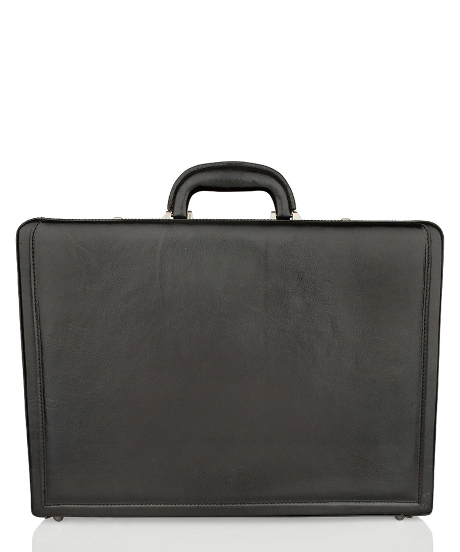 Black leather briefcase Sale - woodland leathers