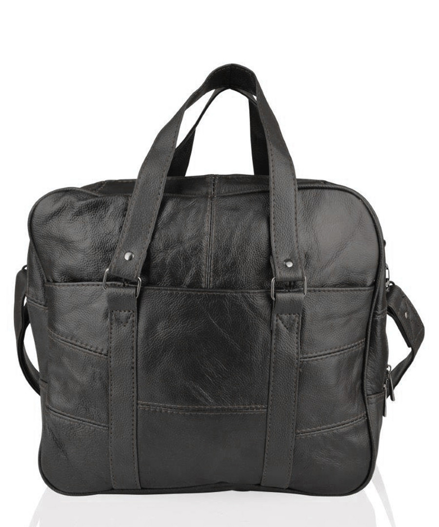 Black leather front pocket briefcase Sale - lorenz