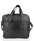 Black leather front pocket briefcase Sale - lorenz Sale