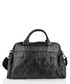Black leather pouch pocket holdall  Sale - lorenz Sale