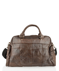 Brown leather pouch pocket holdall