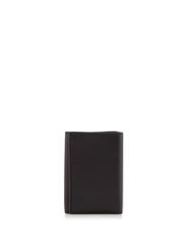 Black leather key holder wallet