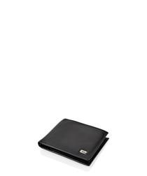 Black leather logo wallet