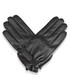 Black leather strap gloves Sale - woodland leather Sale