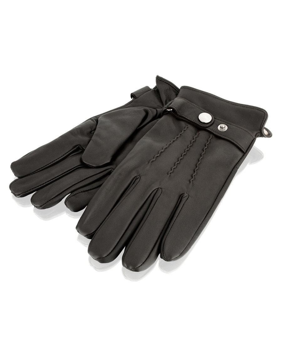 Brown leather strap gloves Sale - woodland leather